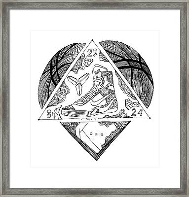 Kb 24 Forever Drawing Framed Print by Kenal Louis