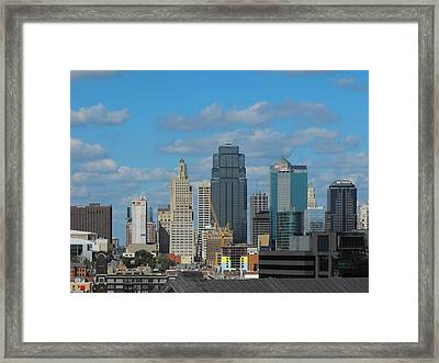 Kc Is Booming Framed Print