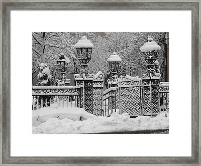 Kc Plaza Is Art In The Snow Framed Print