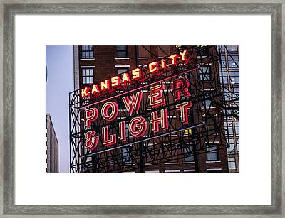 Kc Power And Light Framed Print