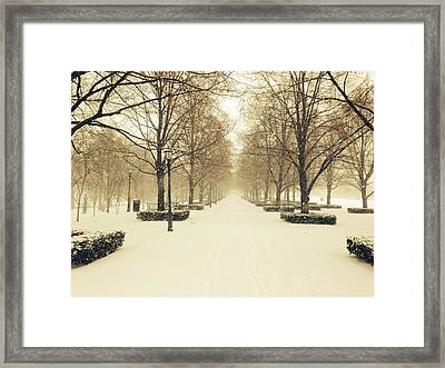 Kc Snow With Parisian Flare Framed Print
