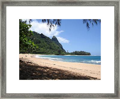 Ke E Beach Framed Print
