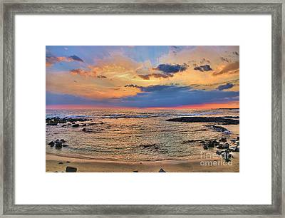 Framed Print featuring the photograph Keahuolu Point by DJ Florek