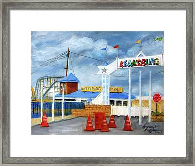 Keansburg Amusement Park Framed Print by Leonardo Ruggieri