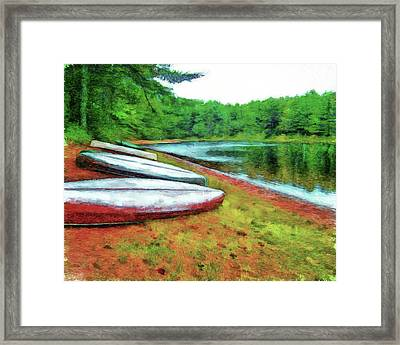 Kearney Lake Beach Framed Print
