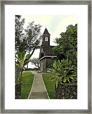 Keawala'i Congregational Church Framed Print