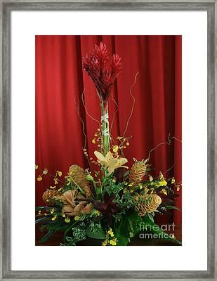 Keawalai Still Life Tropical Flowers Framed Print by Sharon Mau