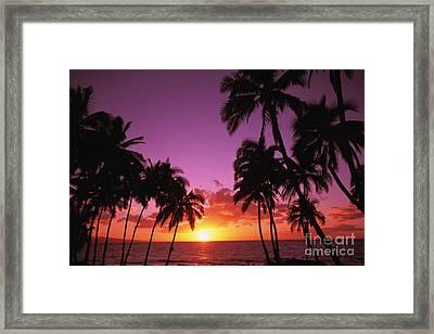 Keawekapu Sunset Framed Print by Ron Dahlquist - Printscapes