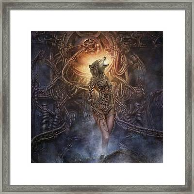 Framed Print featuring the digital art Kebechets Rebirth by Uwe Jarling