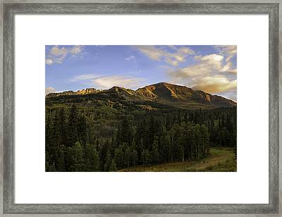 Kebler Pass Colorado  Framed Print by Thomas Schoeller