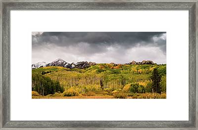 Framed Print featuring the photograph Kebler Pass by Stephen Holst