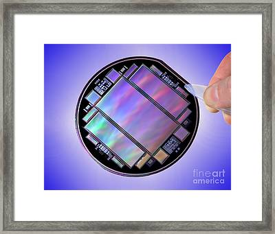 Keck Telescope Ccd Imager Framed Print by Science Source