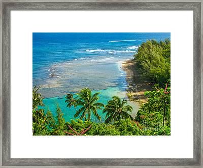 Kee Beach Kauai Framed Print