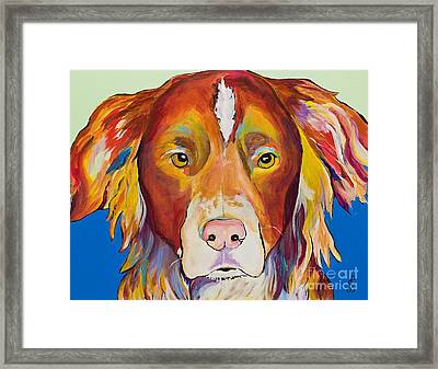 Keef Framed Print by Pat Saunders-White