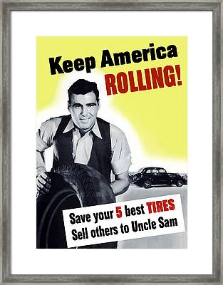 Keep America Rolling Framed Print by War Is Hell Store