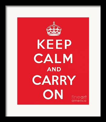 Keep Calm And Carry On Paintings Framed Prints