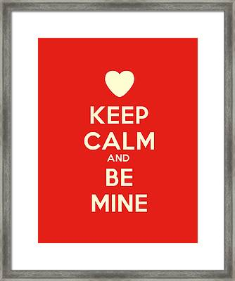 Keep Calm And Carry On Motivational Poster Framed Print