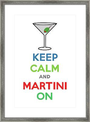 Keep Calm And Martini On Framed Print by Andi Bird