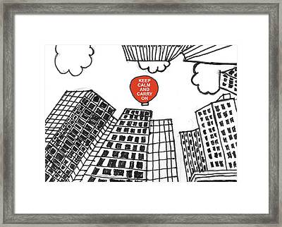Framed Print featuring the painting Keep Calm Wall Street by Trilby Cole