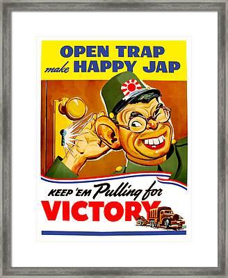 Keep Em Pulling For Victory - Ww2 Framed Print