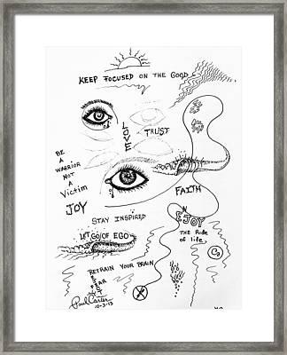 Keep Focused  Framed Print