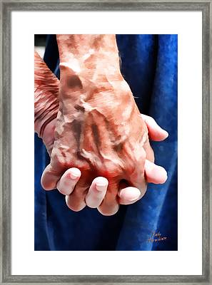 Framed Print featuring the photograph Keep Holding On by Kathy Tarochione
