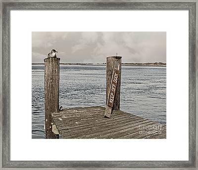 Keep Off Framed Print by Tom Gari Gallery-Three-Photography