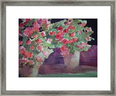 Keep On Potting Framed Print by Sandy Collier