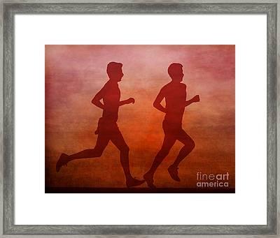 Keep On Running Framed Print