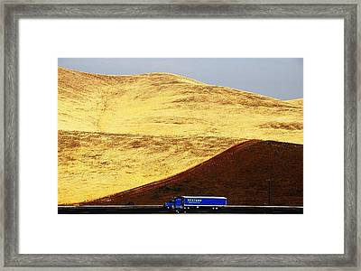 Framed Print featuring the photograph Keep On Western Truckin On Hwy 152 Ca by John King