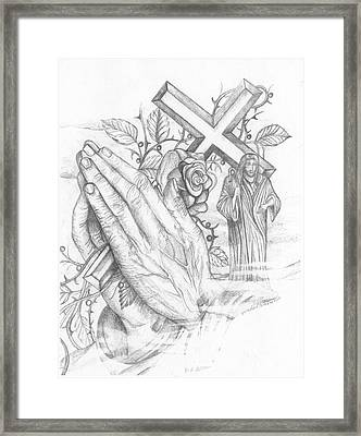Keep Praying Framed Print