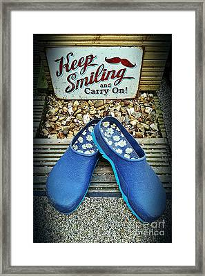 Keep Smiling And Carry On Framed Print