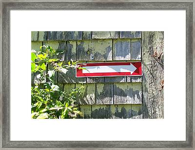 Framed Print featuring the digital art Keep To The Right by Barbara S Nickerson