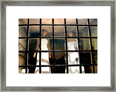 Keep Us Caged Framed Print by Jez C Self