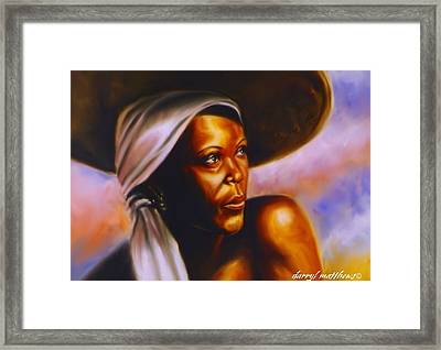Keep Your Head To The Sky. Framed Print by Darryl Matthews