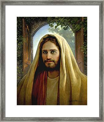 Keeper Of The Gate Framed Print by Greg Olsen
