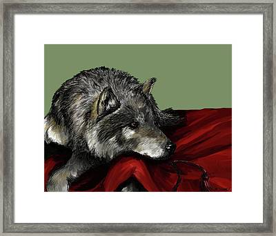 Framed Print featuring the digital art Keeper Of The Hood by Meagan  Visser