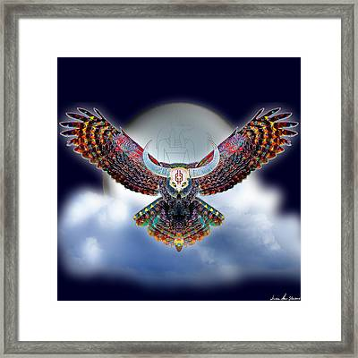 Keeper Of The Night Framed Print by Iowan Stone-Flowers