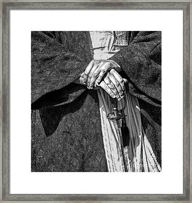 Keeper Of The Sword  Framed Print by Steven Digman