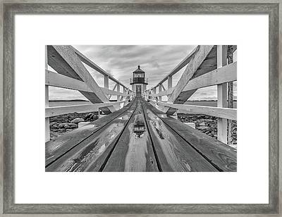 Keeper's Walkway At Marshall Point Framed Print