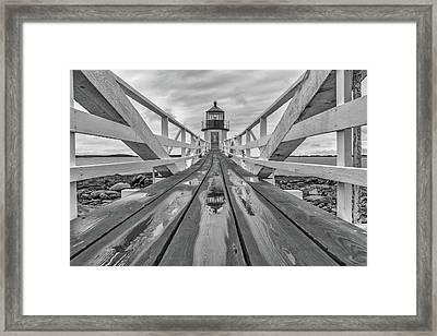 Keeper's Walkway At Marshall Point Framed Print by Rick Berk