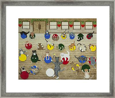 Keeping Fit Framed Print by Pat Scott