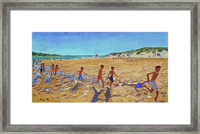 Keeping Fit, Wells Next To The Sea  Framed Print by Andrew Macara