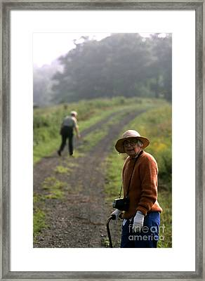 Keeping Going Framed Print by Erik Falkensteen