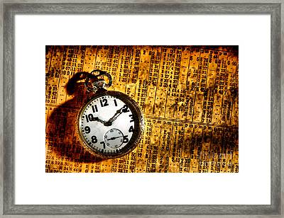 Keeping The Railroad On Time Framed Print by Olivier Le Queinec