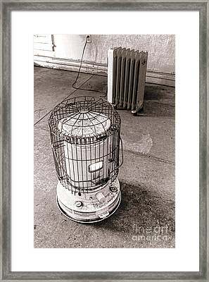 Keeping Warm Framed Print by Olivier Le Queinec