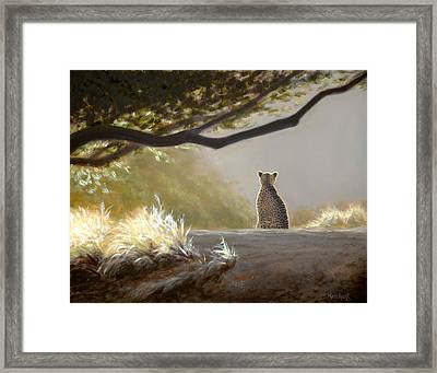 Keeping Watch - Cheetah Framed Print