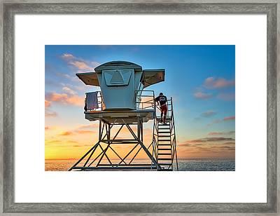Keeping Watch - La Jolla Lifeguard Photograph Framed Print by Duane Miller