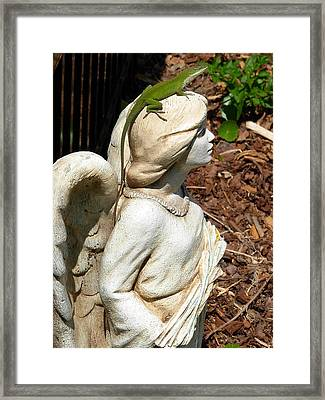 Framed Print featuring the photograph Keeping Watch With An Angel by Jeanne Kay Juhos