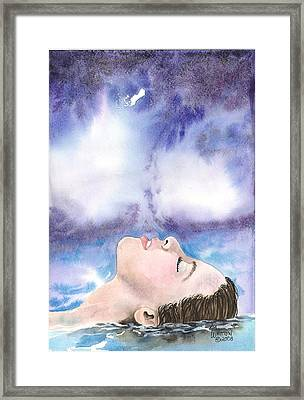 Keeping Your Head Above Water Framed Print
